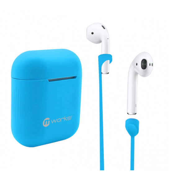 AIRPOD CASE SKIN AND AIRPODS STRAPS BUNDLE OCEAN BLUE