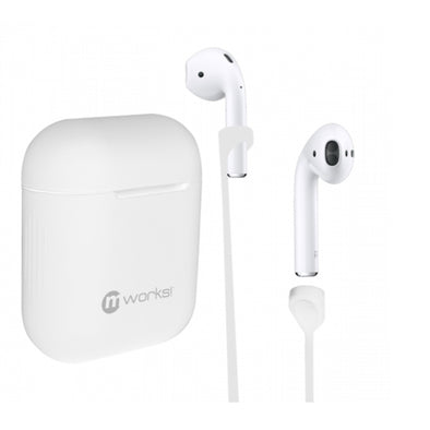 AIRPODS CASE SKIN AND AIRPODS STRAPS BUNDLE WHITE