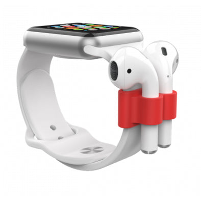 APPLE WATCH + AIRPODS HOLDER RED