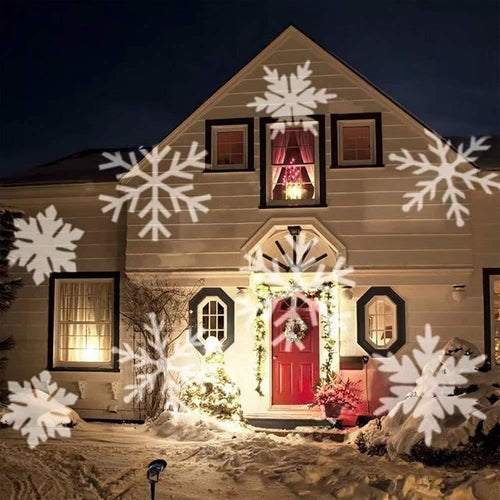 Best Christmas Decor! Snowflake LED projector (12 different occasions)