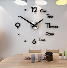 Load image into Gallery viewer, DIY 3D Mirror Stickers Decor Frameless Wall Clock