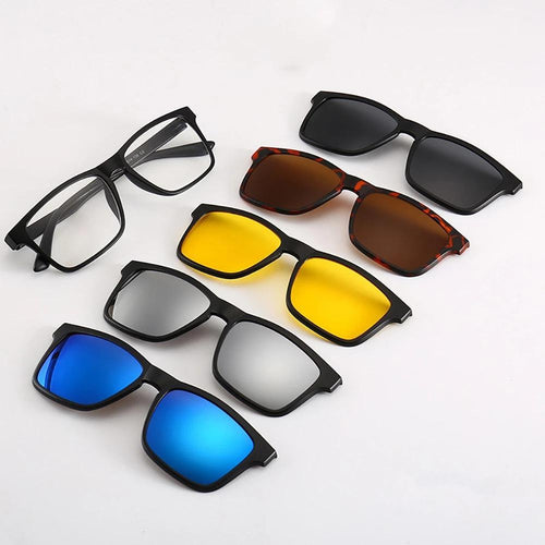 AMAZING 5 IN 1 MAGNETIC LENS SWAPPABLE SUNGLASSES