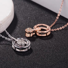"Load image into Gallery viewer, ORIGINAL 100 LANGUAGE NECKLACE OF ""I LOVE YOU"""