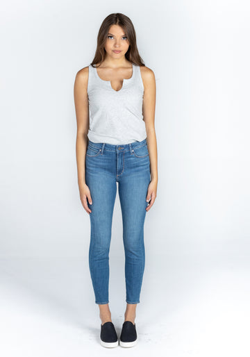 AOS4018PLV Heather High Rise Skinny Crop