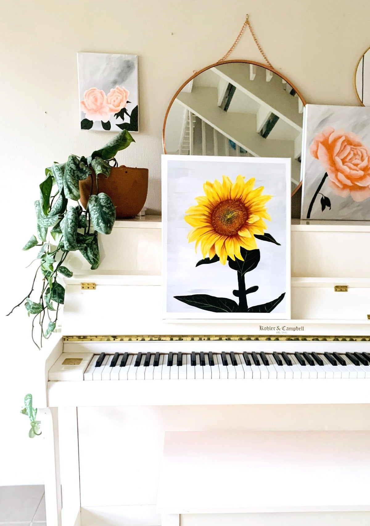 What a day series #26 | Sunflower Painting