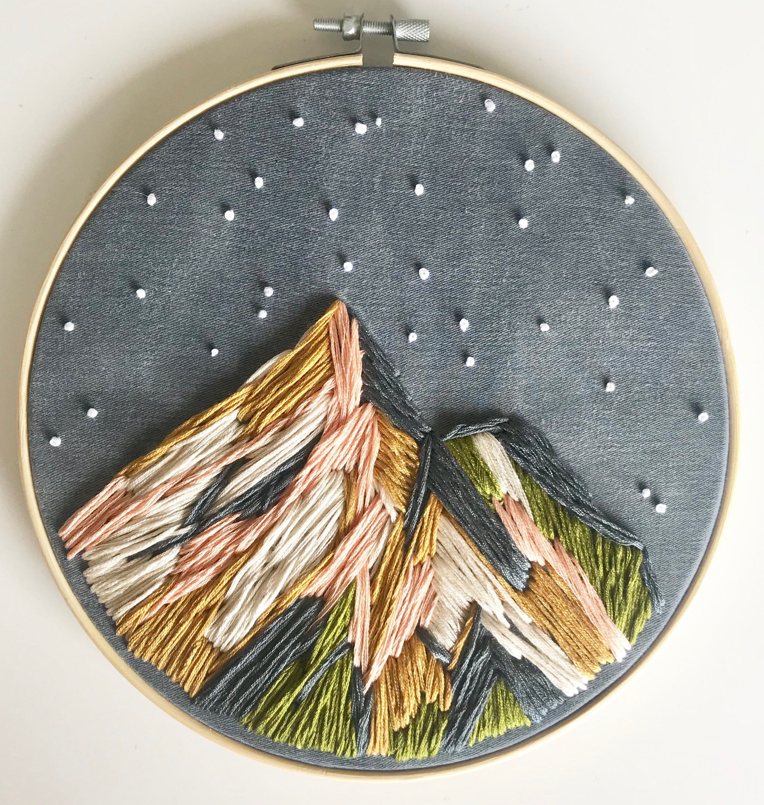 Mountain Kit (DIY) Learn embroidery and punch needle techniques