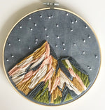 Load image into Gallery viewer, Mountain Kit (DIY) Learn embroidery and punch needle techniques