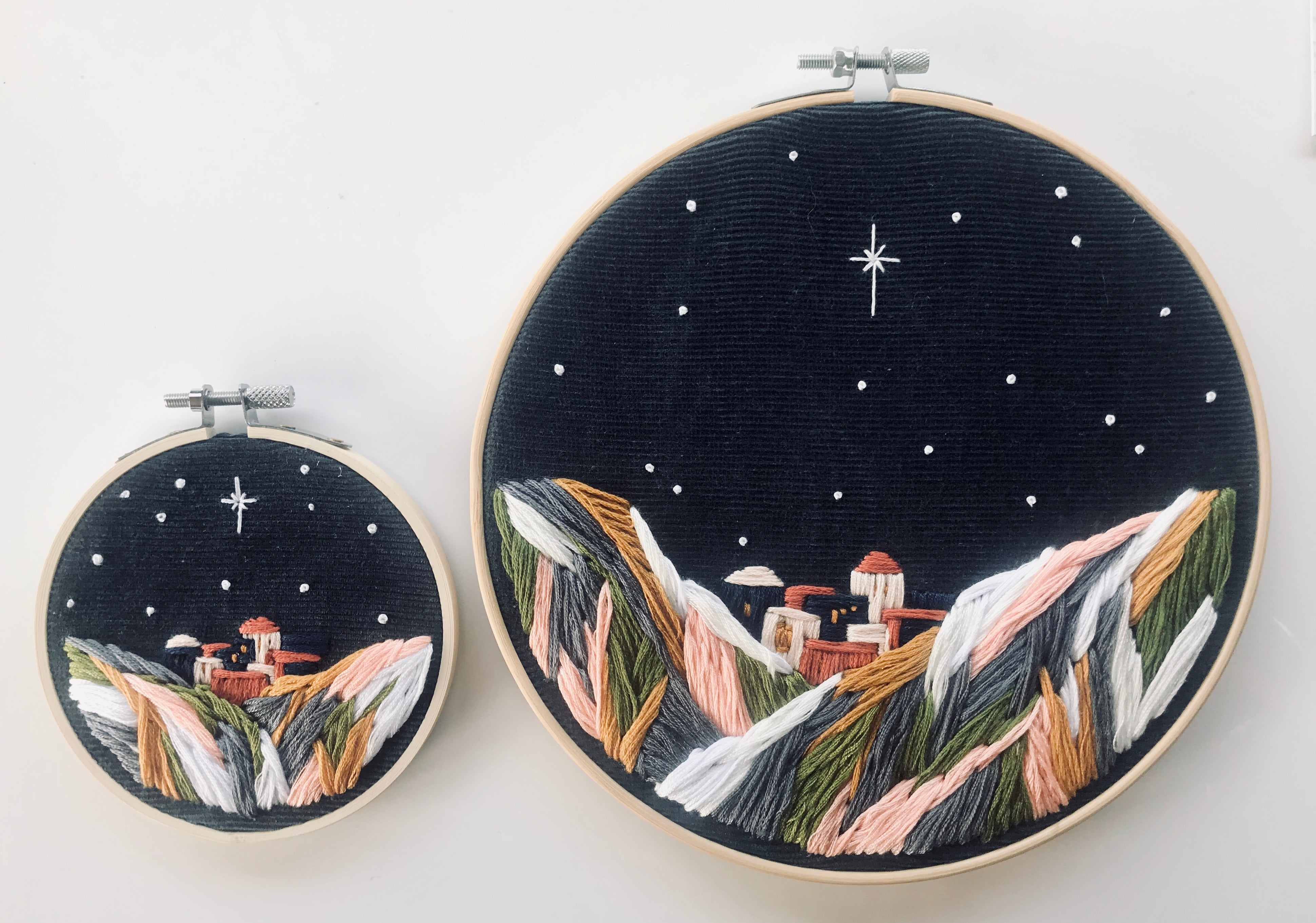 Bethlehem Christmas Embroidery Home Decoration Artwork
