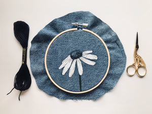 Daisy Kit (DIY) Learn hand embroidery techniques
