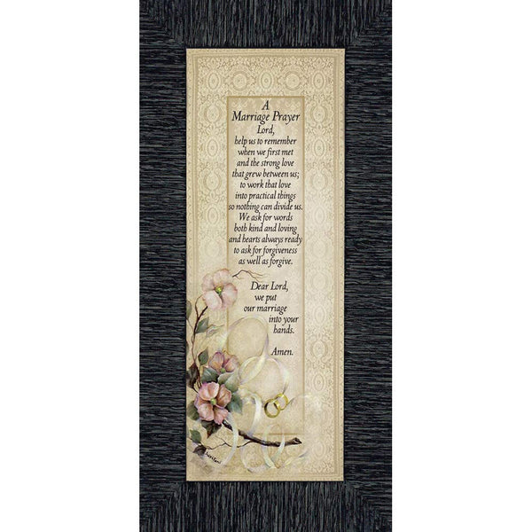 Marriage Prayer, Christian Marriage Gift, Frame Wedding Gift, 6x12 7757CH