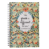My Grace is Sufficient Wirebound Notebook - 2 Corinthians 12:9