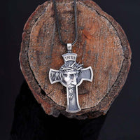 Crown Of Thorns Cross Necklace