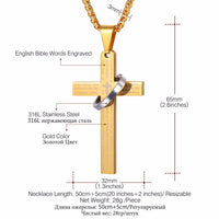U7 Cross Necklace For Men