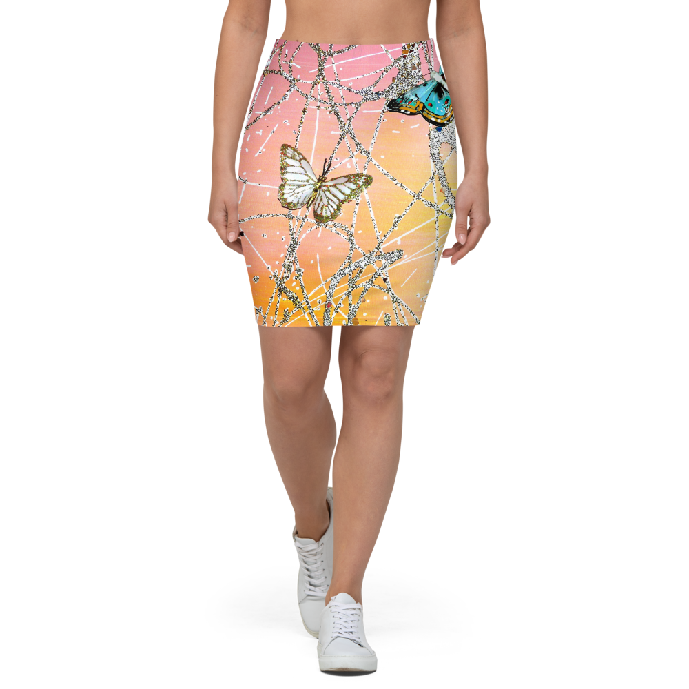 Butterfly Pencil Skirt