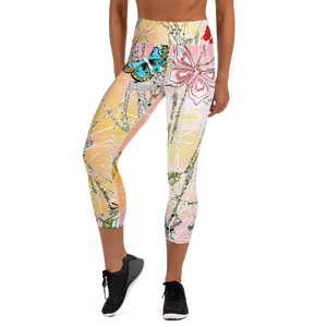 Butterfly Yoga Capri Leggings