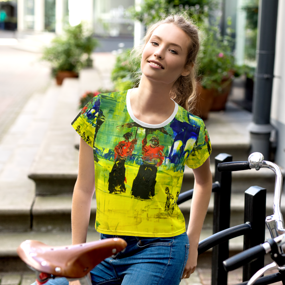 Ted Stourton Art All-Over Print Crop Tee