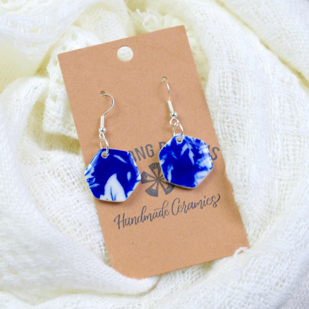 Blue Floral Earrings | Ready-to-Ship
