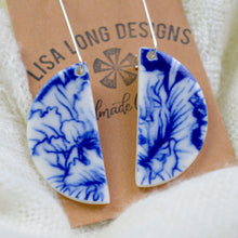Load image into Gallery viewer, Blue Floral Earrings | Ready-to-Ship