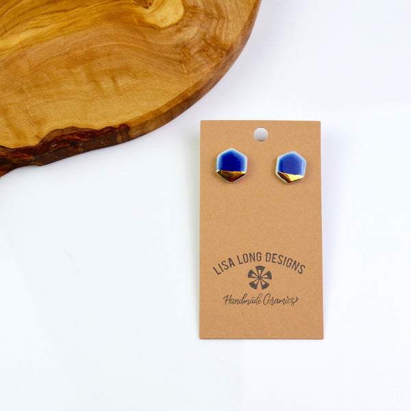 Colorful Porcelain Stud Earrings | Ready-to-Ship
