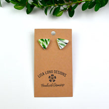 Load image into Gallery viewer, Red & Green Floral Earrings | Ready-to-Ship