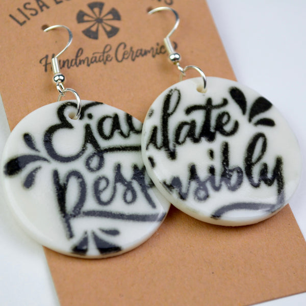 Earrings with a Message | Ready-to-Ship