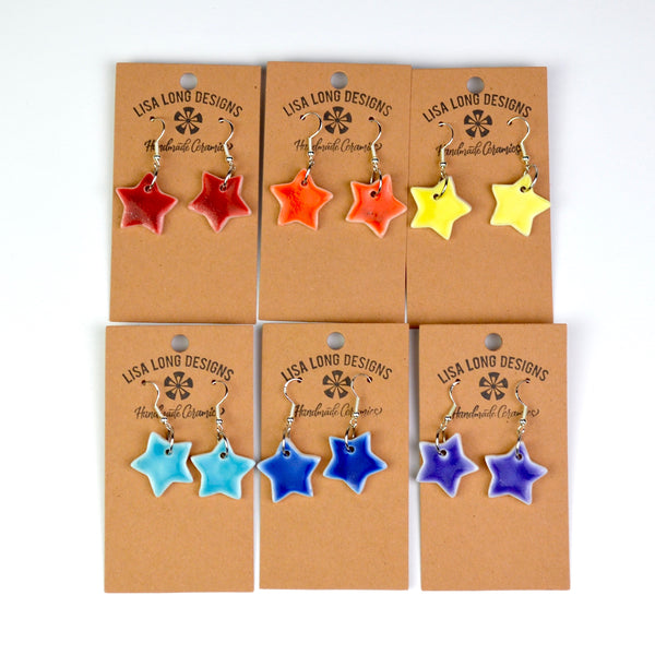 Porcelain Star Earrings | Read-to-Ship