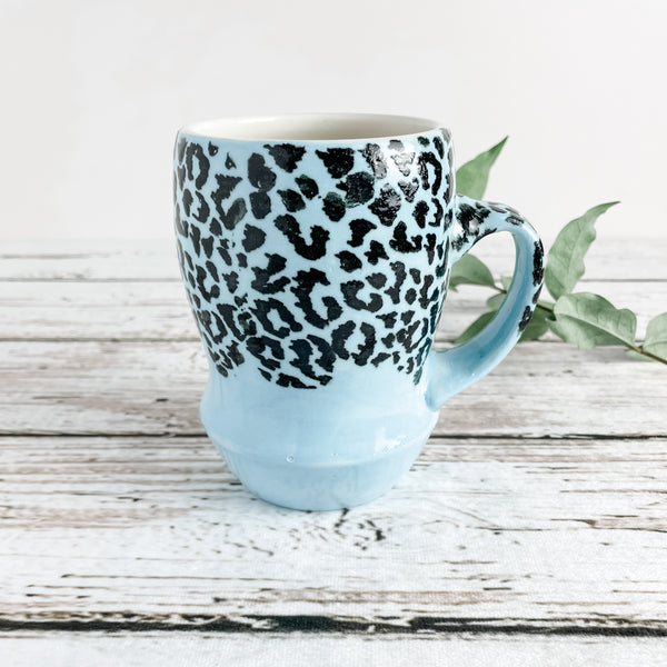 Leopard Print Porcelain Mug | Limited Edition | Ready-to-Ship