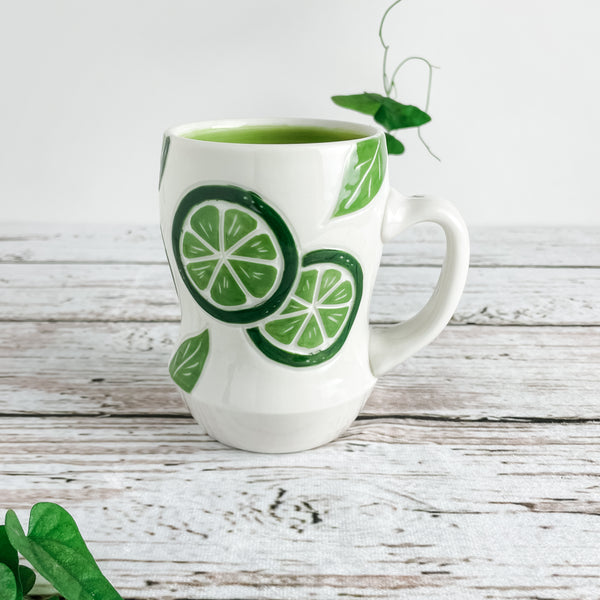 Lime Porcelain Mugs | Limited Edition | Ready-to-Ship