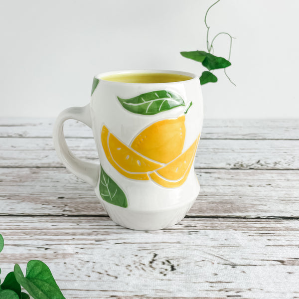 Lemon Porcelain Mug | Limited Edition | Ready-to-Ship