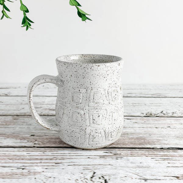 White Stamped Mug | Limited Run | Ready-to-Ship