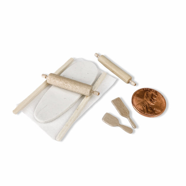 Tiny Rolling Pins and Paddles with Clay