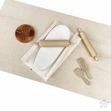 Load image into Gallery viewer, Tiny Rolling Pins And Paddles With Clay Miniature Pottery Tools