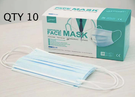 Premium Disposable Face Mask Qty 10 - Equipmart Medical