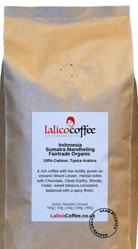 Indonesia Sumatra Mandheling Fairtrade Organic