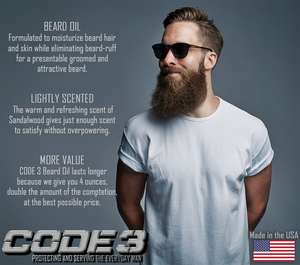 CODE 3 Beard Oil for Men