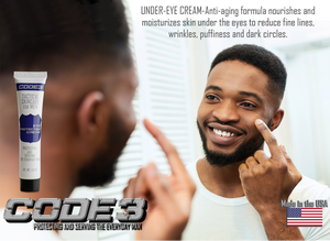 CODE 3 Eye Protection Under Eye Cream for African American Men