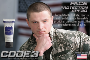 CODE 3 SPF Face Protection Moisturizer for Military Men
