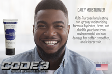 Load image into Gallery viewer, CODE 3 SPF Face Protection Moisturizer for African American Men