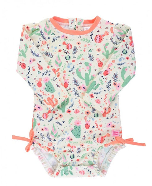 Rufflebutts-Desert Blossoms One Piece Rash Guard