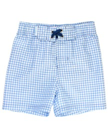 RuggedButts-Cornflower Blue Gingham Swim Trunks