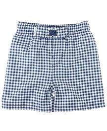 RuggedButts-Navy Gingham Swim Trunks