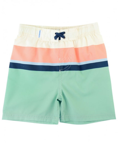 RuggedButts-Sage Color Block Swim Trunks