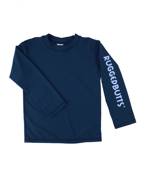 RuggedButts-Navy Long Sleeve Rash Guard