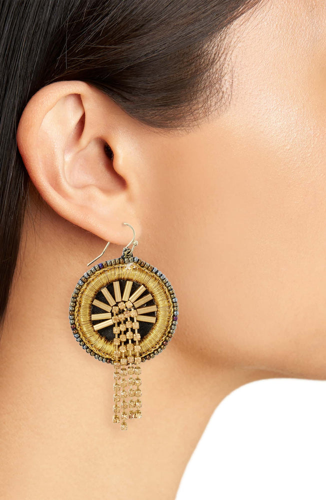 Waterfall Disc Drop Earrings