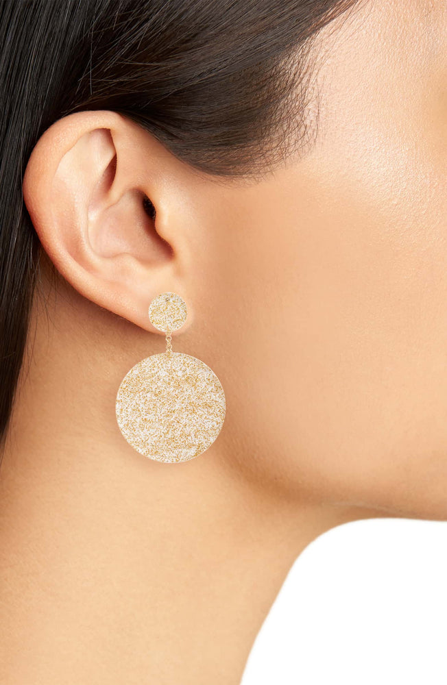 Shimmer & Shine Disc Drop Earrings