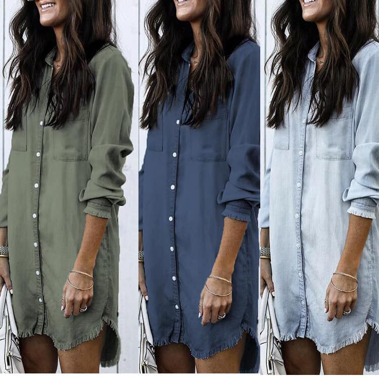Chambray Shirt Dress + Shacket