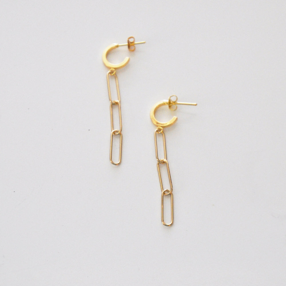 Chained to the Rhythm Drop Earrings