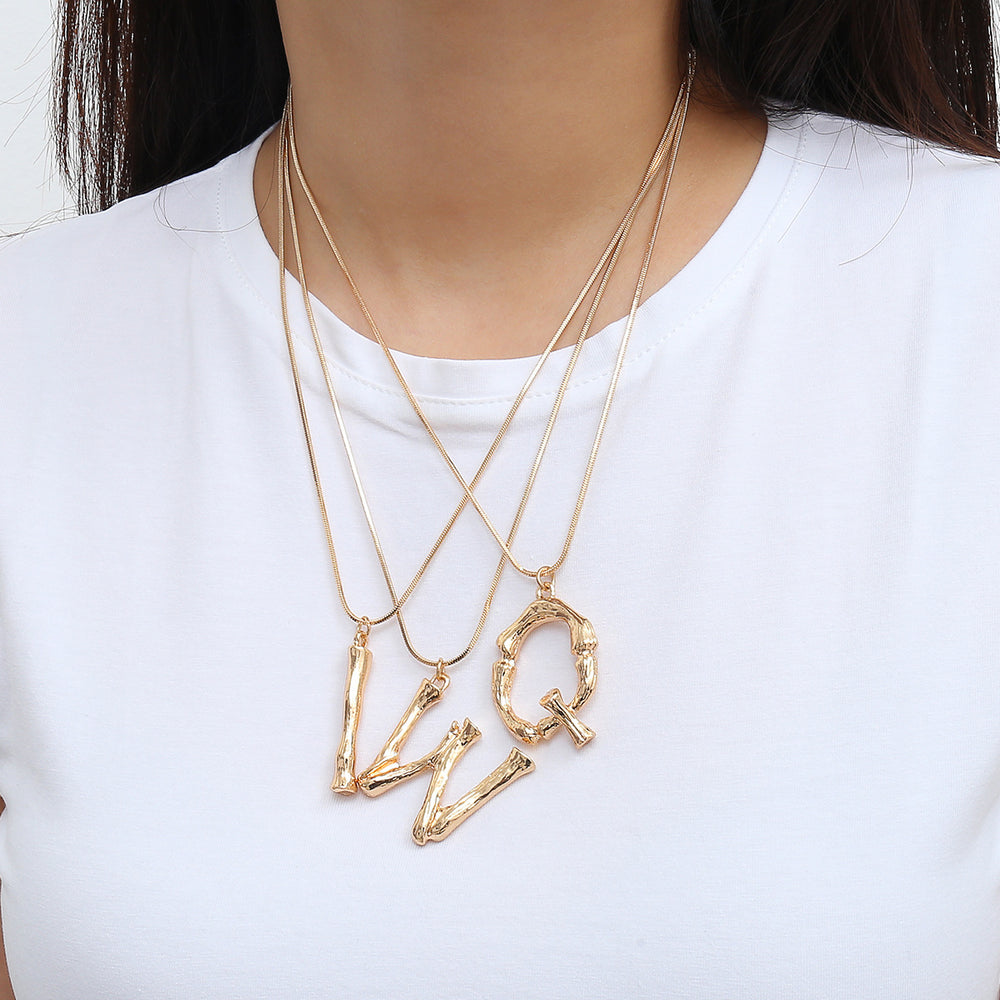 Drake Initial Pendant Necklace