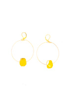 Gem Chunk Hoops | Yellow