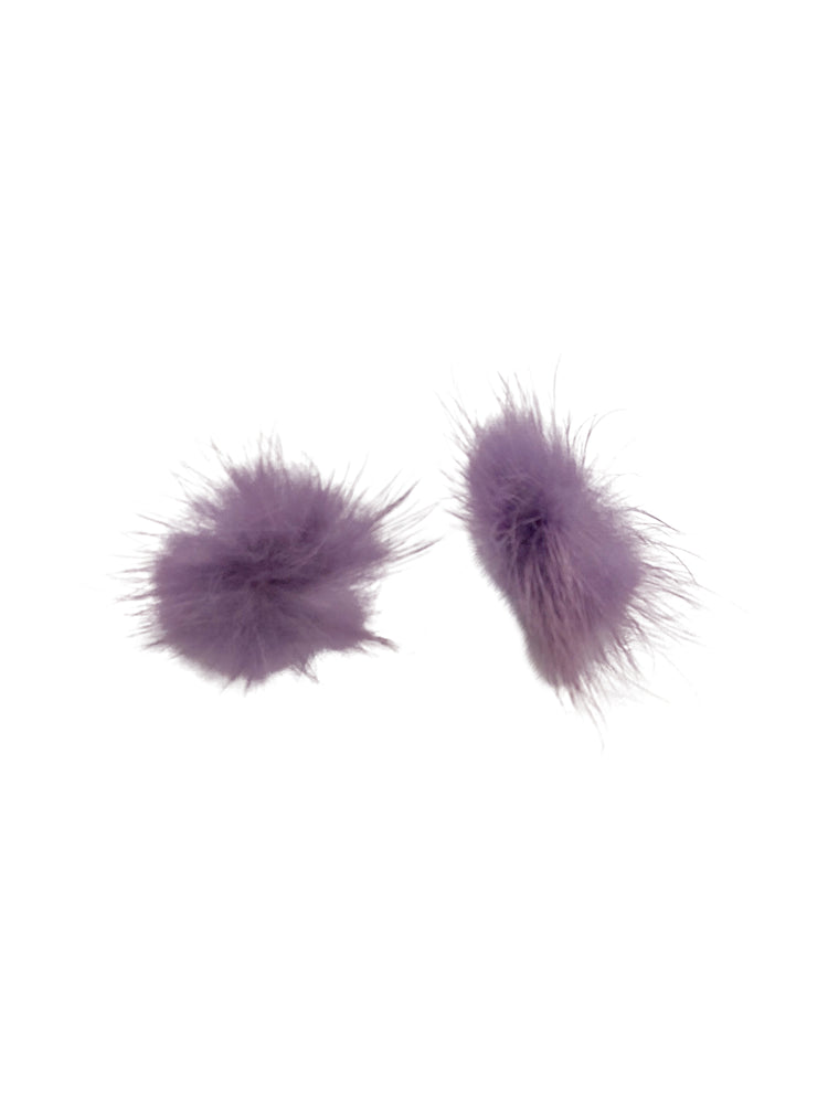 Coco Pom Stud Earrings | Lavender